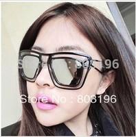 5PCS/Lot Fashion Big Frame Mirror Sunglasses Super Star Summer Women's Brand Sunglasses Free Shipping
