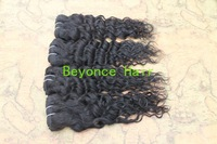 Queen Hair Mix Length Human Peruvian hair Deep Curly Cheap hair 3pcs/lot 1B no shedding and tangles