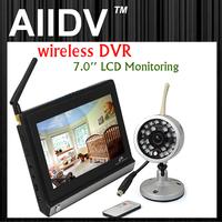 2.4g wireless monitoring set night vision waterproof camera 7 baby wireless video recorder wireless monitor