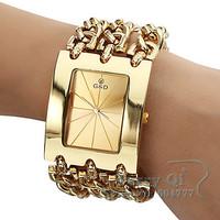 New Fashion Bracelet Watch Quartz Men Women Unisex Gold Wathces Wristwatch Free Ship