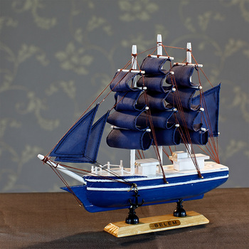 free shipping  home decoration sailing boat model wool crafts decoration 24cm