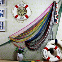 wholesale free shipping Decoration supplies fishing net background wall decoration props leptonema