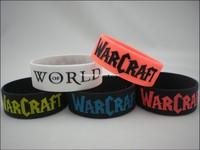 "World of Warcraft wristband, silicon bracelet, 1"" wide band, 50pcs/lot, free shipping"