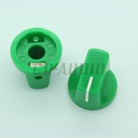 10PCS GREEN  Set Pointer Knobs For DIY tube Guitar Amp Effect Pedals Over Drive Mixer Cabinet Speaker 19x15mm