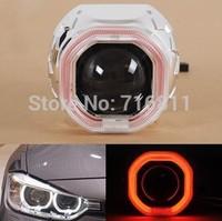 "2014 New Arrival  2pcs 2.5"" G5C Bi- Xenon Projector Lens square Angle  BI xenon controller 1 year warrraty Free shipping"