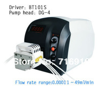 Big Sale for BT101S Low flow Precise variable speed peristaltic pump for water pumps fluid / DG 6-4(6 rollers) Pump head