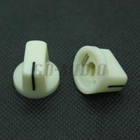 10PCS WHITE Set Pointer Knobs 19*15mm For DIY tube Guitar Amp Effect Pedals