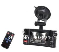 "Free Shipping Car Black Box F20 2.7"" TFT LCD vehicle Car DVR!Dual Lens + Night Vision IR LED+G-Senso+H.264"