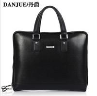 2013 new arrived formal cowhide Leather man briefcases big size bag Fashion handbag male brand M80076-1B or M80076-1S