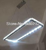 Modern LED  Rectangle crystal chandelier lighting fixture