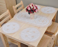 Dinner Mat Set Cutworking Embroidery Placemat /runner,531C, Free shipping