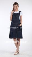 Maternity Denim Dress for Pregnant Women Jeans Dress Gravida Clothing Casual Vest Dresses for Spring Summer Autumn Free Shipping