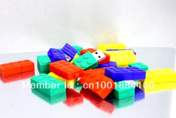Free Shipping genuine capacity  Mini Block USB Flash Disk, ,USB Stick,1GB,2GB,4GB,8GB,16GB,32GB 64GB