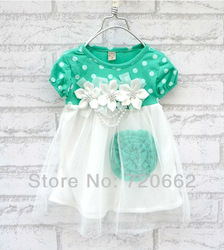 Free Shipping 4pcs/lot 2013 Summer Hot sell baby dress kids wear Princess dress kids clothing Dresses TP1004(China (Mainland))