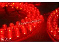 Free Shipping 120cm Car PVC Strip Red LED Flexible Light Bar @15824