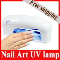 9W UV Lamp Nail Polish Timer Dryer Lamp UV Gel Curing Salon SPA kit +1 Tube Lamp