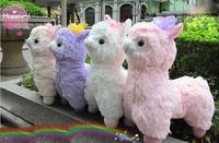 Japanese Arpakasso Amuse; Genuine 43cm plush alpaca with bows; 4 colors to choose