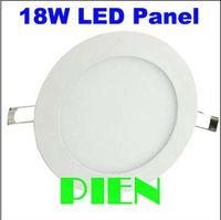 8inch 18W Led Panel Light luminaire downlight round aluminium 1600LM 225mm 85V-265V 4500K +power adapter CE&ROHS by DHL 30pcs