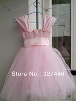 2013 Real Image Lovely New Style Ball Gown Square Ribbon Skirt Spaghetti straps lovely Pageant flower girl dresses for wedding