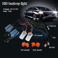 HID reversing light DC9-16V 15W T10, T15, T20, T25, BA15S, 7440, 3156 HID xenon kit super brightness FREE SHIPPING