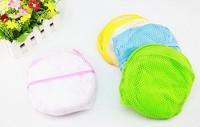 Eco-Friendly Reinforced Nylon Mesh Laundry Basket Laundry Basket For ClothesAiring Basket Can Be Folded Multicolor
