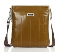 2013 cross body men messenger bags sport the cross mens shoulder bag Genuine waxy Leather handy Messenger bag gold Bag D8705-3