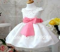 4 pcs free shipping,NEW Korea rose bow princess dress crystal princess dress purple girl's dress kid's derss  summer clothes