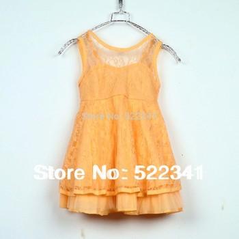 Cute girls vest dress children's clothing  dress 2014 summer kids baby Korean Fashion Princess
