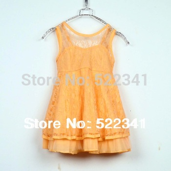 Cute girls vest dress children's clothing  dress 2015 summer kids baby Korean Fashion Princess