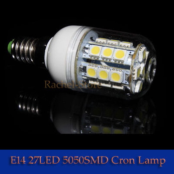 1No Flashing 5W 27PCS 5050 LED E27 Corn Light Bulb Lamp 400LM Warm White Cool White 10W 48LED 5050
