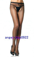 New Women's Sexy Crotchless Pantyhose small mesh Fishnet Stocking Tights 2open Dress