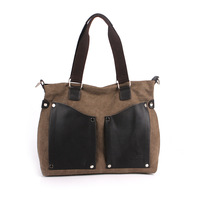 2014 New fashion women's handbag women's canvas bag shoulder bag messenger bag casual female big bags free shipping