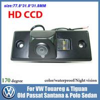 Free shipping CCD Car backup camera for VW Touareg Tiguan Old Passat Santana Polo Sedan night vision car parking camera rearview