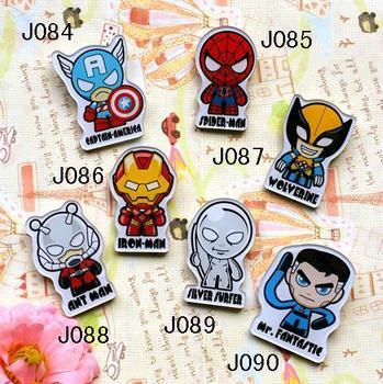 Mix order-min order is $20 hotsale popular acrylic brooch cartoon hero pin brooch popular J084 J085 J086 J087 J088 J089 J090