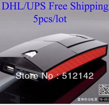 Free shipping by DHL/ UPS !  5 pieces/lot yoobao YB651 thunder 13000mah power bank.