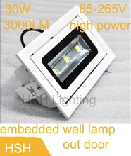 AC85-265V 30W High Power White/Warm White Outdoor Waterproof LED Flood Light  Advertising Lamp(China (Mainland))