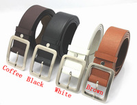 Free Shipping New Men's Fashion Classical Faux Leather Premium Textured Metal Buckle Belts  hot selling MPD18