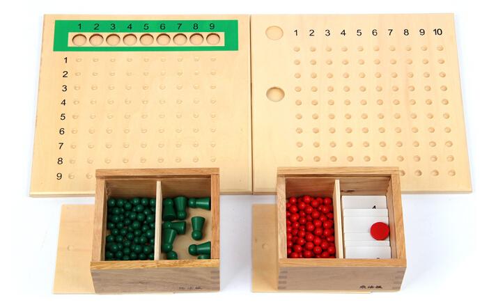 candice guo! educational wooden toy Montessori mathematics teaching aids multiplication/division bead board(China (Mainland))