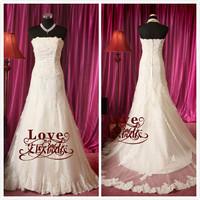 Free Shipping! Short Trailing Princess Strapless Slim Hip Lace White Mermaid Wedding Dress 2013 CH2175