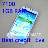 "free shipping Fly 7100 Note 2 II N7100 MTK6577 / MTK6589 1GB RAM Android 4.1.1 Dual core 5.5""QHD screen 3G GPS Smart phone /Eva"
