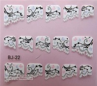 24 styles nail sticker & Decals French design individual package for resale nail art stamp nails nail decoration stickers yarn