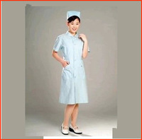 Free shippment Blue summer short-sleeve  -Sleeve  and Longnurse clothing beauty services work wear  DC009