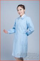 Free shippment  Nurse clothing long-sleeve winter nurse clothes white nurse pants white coat physician services DC008