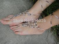 Handmade Crochet Barefoot Sandals,Hippie Foot Thongs, Bridal, Summer, Beach, Lace up Sandals, Festival, Gladiators, Bohemian