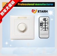 LED  Dimmer rotary switch DC 12V/DC 24V With IR Remote control 12 keys Low Voltage dimming switch