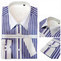 Designer Brand Men Shirt Cotton Striped Long Sleeve Shirt High Quality Shirt Mens Dress Shirt