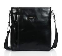 Black color design shoulder Genuine Leather brand Messenger bag for men messenger bags 66103-3