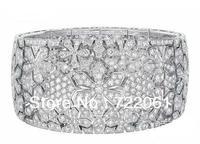 Free mail 925 silver fashion jewelry bracelet    Brand exaggerated bracelet   Fine jewelry bracelet
