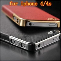 Ultra Slim Platinum Design Hard Case For iPhone 4S 4 luxury Phone Cover Accessory FREE SHIPPING
