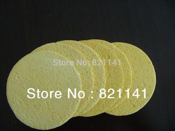 10pcs/lot  Natural Cellulose sponge puff for facial cleaning compressed cellulose sponge75* 7mm,Natural wood pulp sponge